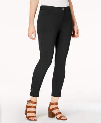 Style&Co. Style & Co Lace-Up Straight-Leg Pants, Created for Macy's