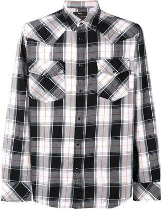 Diesel check pattern shirt