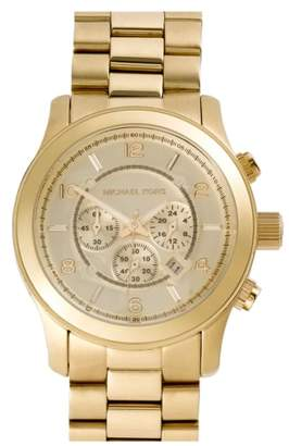 Michael Kors 'Large Runway' Chronograph Bracelet Watch, 45mm