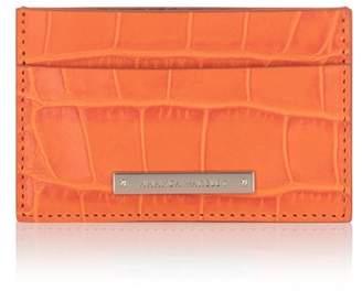 Amanda Wakeley Marrakech Orange Leather Norton Cardholder