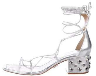 Michael Kors Leather Low-Heel Sandals