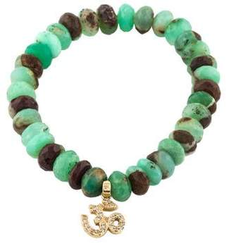 Sydney Evan 14K Chrysoprase & Diamond Om Charm Bracelet