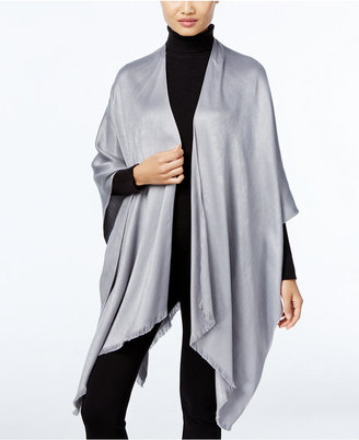 Calvin Klein Solid Satin Poncho $68 thestylecure.com