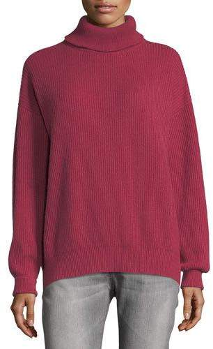 Brunello Cucinelli Ribbed Cashmere Turtleneck Sweater