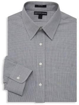Saks Fifth Avenue Mini Gingham Dress Shirt
