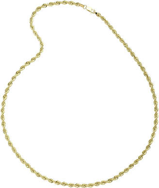 JCPenney FINE JEWELRY 10K Yellow Gold 24 Hollow Rope Chain Necklace