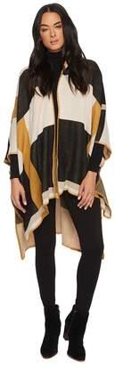 Michael Stars Makes Me Plaid Hooded Ruana Women's Coat