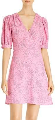 Kate Spade Meadow Puff-Sleeve Floral Wrap Dress