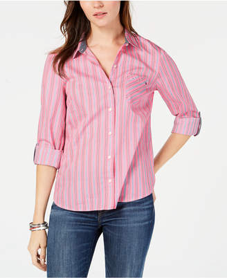 Tommy Hilfiger Striped Button-Front Shirt