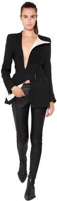 Haider Ackermann Asymmetrical Open Back Wool Jacket
