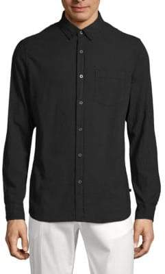 AG Adriano Goldschmied Classic Cotton Button-Down Shirt