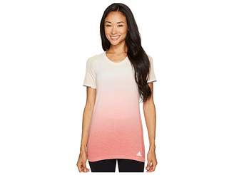 adidas Primeknit Wool Short Sleeve Dip-Dye Tee Women's T Shirt