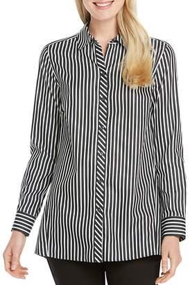 Foxcroft Emilia Striped Cotton Tunic Shirt