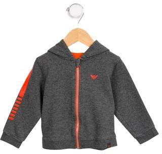 Armani Junior Boys' Graphic Print Hooded Sweatshirt