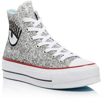 b07b035e6a5adf Converse x Chiara Ferragni Women s Chuck Taylor Glitter High Top Sneakers