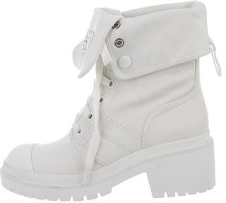 Marc by Marc Jacobs Canvas Logo Mid-Calf Boots $145 thestylecure.com
