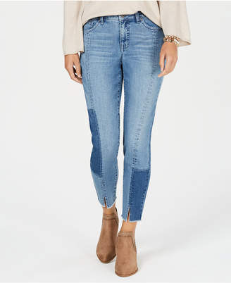 Style&Co. Style & Co Seam-Detailed Curvy-Fit Skinny Jeans