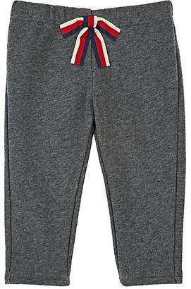 Gucci Infants' Bow-Appliquéd Cotton Terry Pants - Gray
