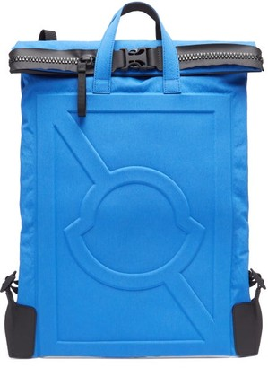 Craig Green 5 Moncler Logo Embossed Technical Backpack - Mens - Blue
