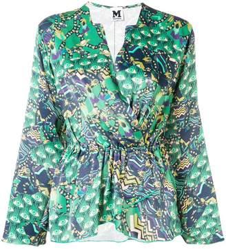 M Missoni abstract print wrap blouse