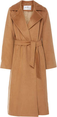 Max Mara Manuela Belted Camel Hair Coat Size: 6