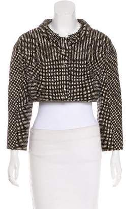 Paule Ka Patterned Crop Jacket w/ Tags
