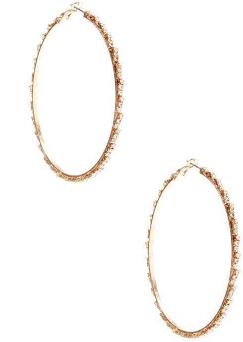 GUESS by Marciano Pave Hoop Earring