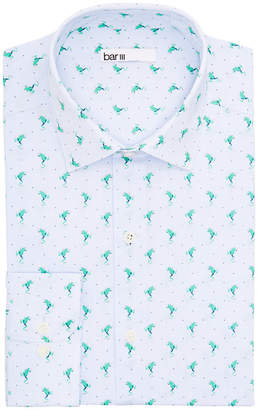 Bar III Men Slim-Fit Performance Stretch Frog Stripe Dress Shirt