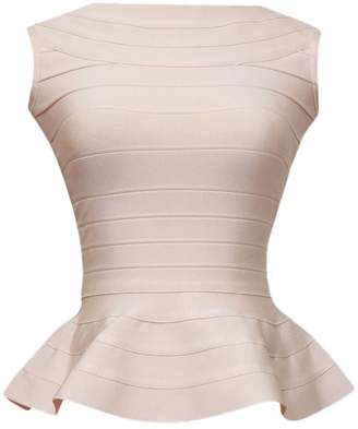 HLBandage Peplum Sleeveless Pure Color Bodycon Rayon Bandage Tank Top(L,)