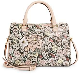 Karl Lagerfeld Paris Winnie Floral Leather Satchel