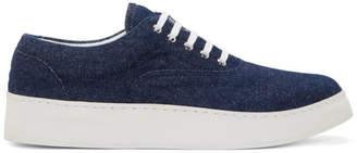 Kris Van Assche Krisvanassche Indigo Denim Sneakers