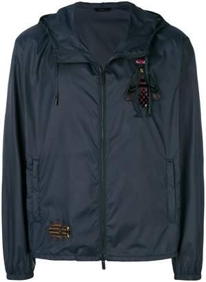 Fendi zipped embroidered jacket