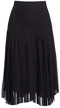 Akris Women's Chiffon Plissé Midi Skirt