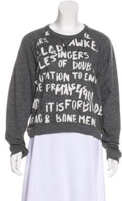 Rag & Bone Printed Raglan Sleeve Sweatshirt