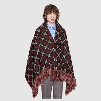 Gucci GG diamond wool scarf