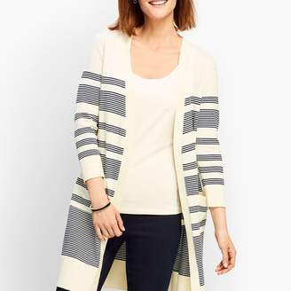 Talbots Long Stripe Cardigan