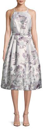Eliza J Halter Neck Belted Dress