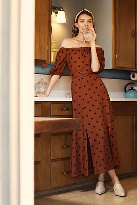 Anthropologie Lucienne Off-The-Shoulder Maxi Dress