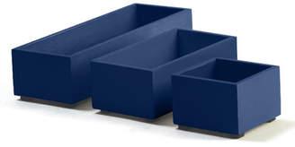 Bindertek Bright Wood Desk Organizers Storage Box Set