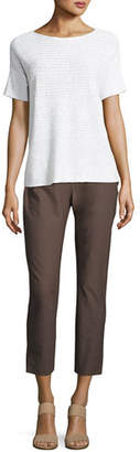 Eileen Fisher Washable Stretch Crepe Cropped Pants $158 thestylecure.com