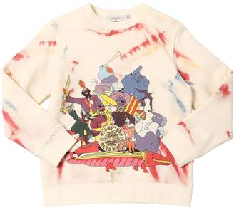 Stella McCartney BEATLES PRINT COTTON SWEATSHIRT