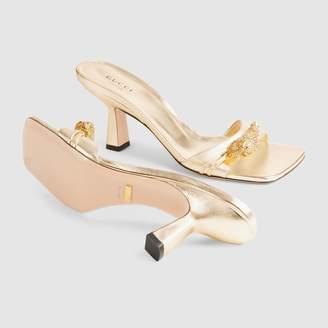 ead21deca Gucci Mid-heel slide with tiger head