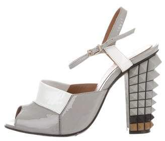 Fendi Patent Leather Studded Sandals