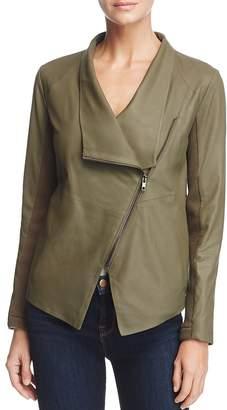 BB Dakota Kenrick Draped Leather Coat