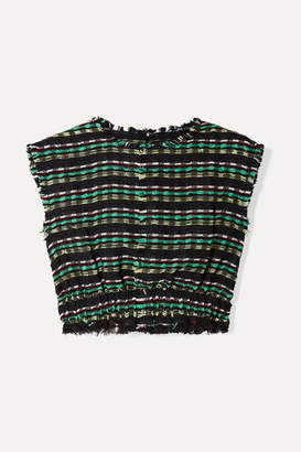 be66d5a82429e0 Proenza Schouler Cropped Tweed Top - Black