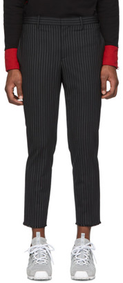 Neil Barrett Black Pinstripe Trousers