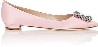 Manolo Blahnik Women's Hangisi Flats-PINK $955 thestylecure.com