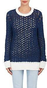 Chloé WOMEN'S OPEN-KNIT CHENILLE SWEATER - NAVY SIZE XS
