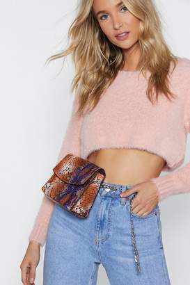 Nasty Gal WANT Snake Care Chain Belt Bag