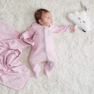 My 1st Years Personalised Baby Girl Pink Marl Sleepsuit